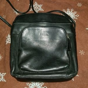 Fossil Black Leather crossbody